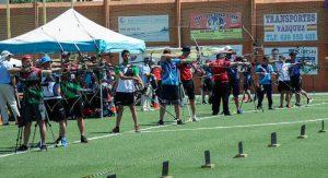 Línea de tiro del Campeonato de Andalucía Senior durante las eliminatorias.