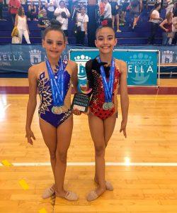 Sobresaliente actuación de Alba Silva y Rocío Moreno, que conquistaron cuatro medallas de oro.