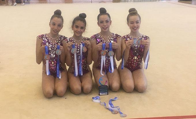 El conjunto Infantil del Rítmico logró una medalla de plata y otra de bronce.