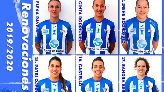 El Sporting de Huelva anuncia la renovación de seis jugadoras que serán el armazón del equipo en la temporada 2019-20