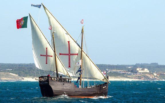 La Carabela Vera Cruz llega a Huelva desde Portugal