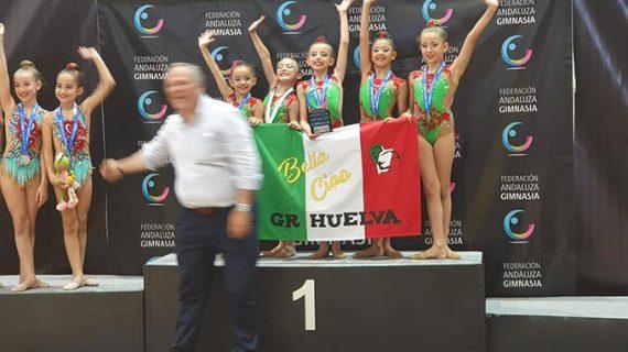 El GR Huelva cierra con cinco oros y dos bronces el Campeonato de Andalucía de Equipos Absoluto de Gimnasia Rítmica