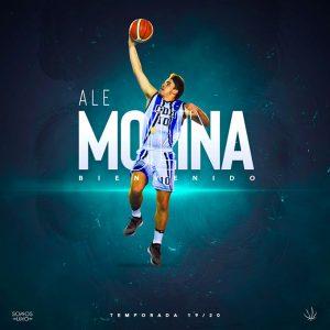 Ale Molina, pese a que en la temporada 2019-20 será Junior de segundo año, está sobradamente preparado para competir en la Liga EBA.