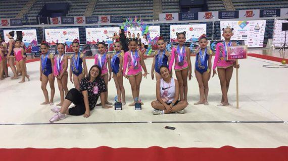El Gimnasia Rítmica Huelva arrasa en los Campeonatos de Andalucía celebrados en Marbella y Almería