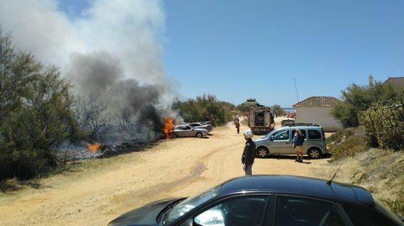 Atendidos sendos incendios forestales en Moguer y Punta Umbría
