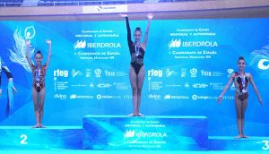 Ángela Martín, en lo más alto del podio.
