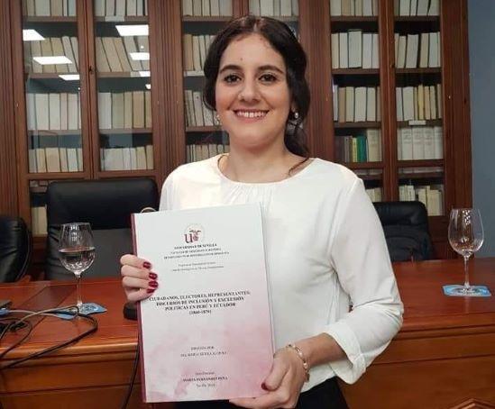 La historiadora onubense Marta Fernández logra el accésit del prestigioso Premio Miguel Artola a Tesis Doctorales