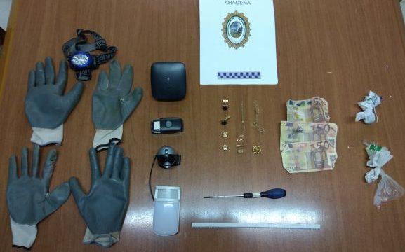Dos detenidos in fraganti por robo con fuerza en el interior de un domicilio en Aracena