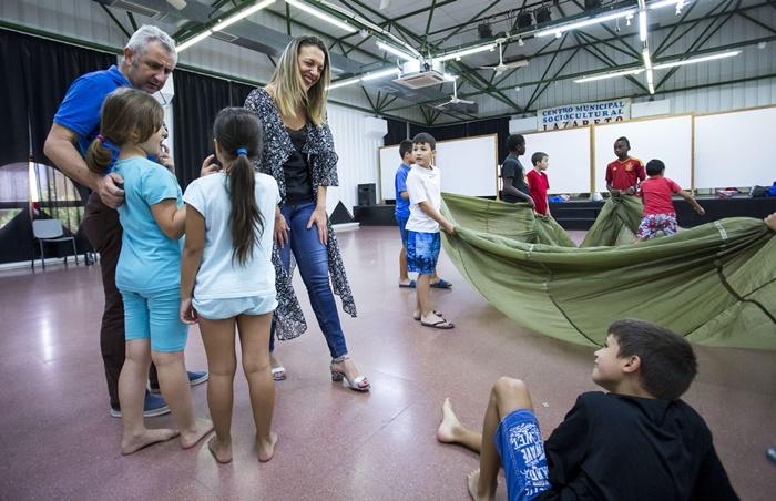 Un centenar de niños de familias usuarias de los Servicios Sociales disfrutan de las Escuelas de Verano