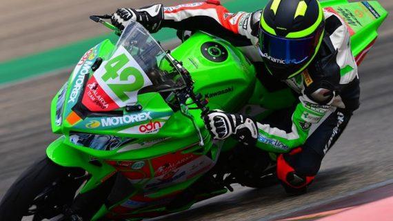 El motorista Raúl Pérez compitió el pasado fin de semana en la categoria SBK Junior en la cuarta cita del Campeonato de España