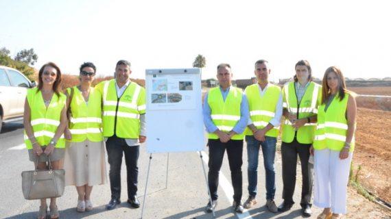 Obras en la carretera A-494 entre Palos y Moguer para reducir el riesgo de accidentes
