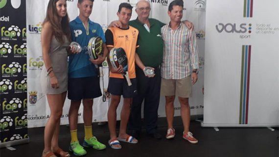 Un primer puesto y un segundo, los grandes logros del Club de Pádel La Volea en el Campeonato de Andalucía de Menores