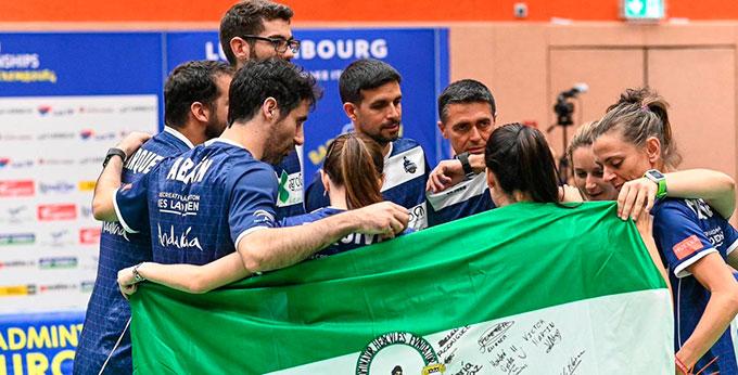 El Recre Bádminton IES La Orden asegura medalla en el Campeonato de Europa de Clubes en Luxemburgo