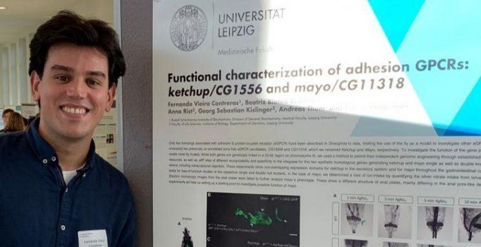 Fernando Vieira estudia un doctorado en bioquímica y genética en la ciudad alemana de Leipzig