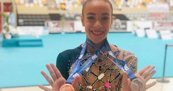 Lucía Paiseo se exhibe en el Campeonato de España por Equipos de Gimnasia Rítmica en Zaragoza