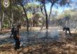 La llamada de un ciudadano permite la rápida extinción de un incendio en Punta Umbría