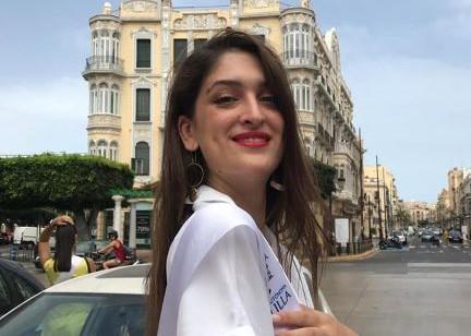Primera prueba para Lourdes Bernabé en la pregala de Miss World 2019, que se celebra este jueves en Melilla