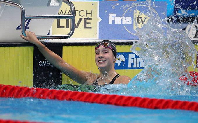 La onubense Alba Vázquez se proclama campeona del mundo Junior de natación en los 400 estilos