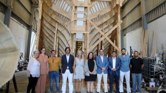 Los talleres de Punta Umbría construyen la réplica de la Nao Victoria, que se encuentra al 60%