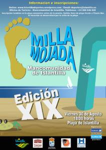 Cartel de la XIX Milla Mojada de Islantilla que se celebra este viernes.