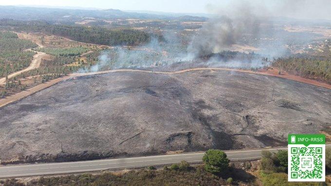 Estabilizado el incendio forestal declarado en Valverde del Camino