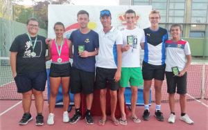 Ganadores del XVI Open de Tenis de Isla Cristina.