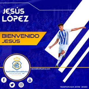 Anuncio del fichaje del central jerezano, Jesús López. / Foto: @recreoficial.