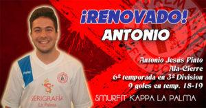 Antonio Pinto cumplirá en la 2019-20 su sexta temporada en el Smurfit Kappa.