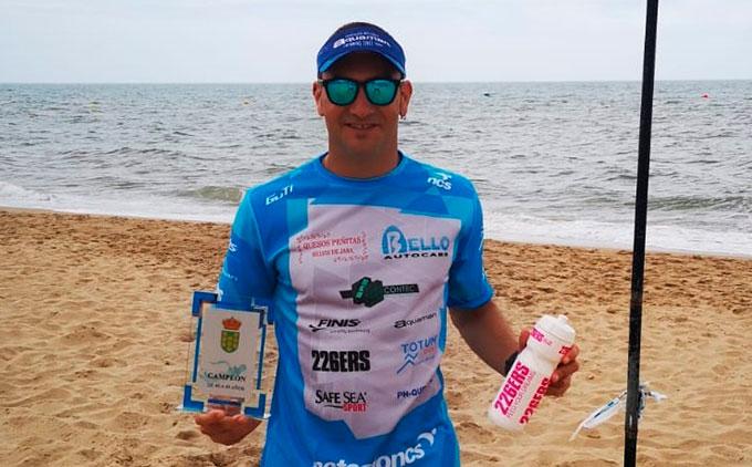 Rubén Gutiérrez roza el podio Absoluto en el I Circuito Provincial de Natación en Aguas Abiertas-Diputación de Huelva