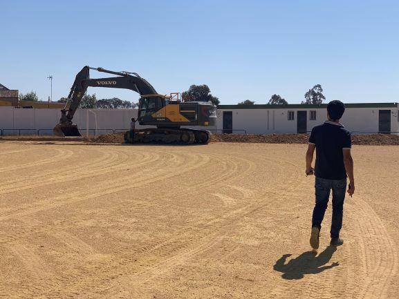 Arrancan las obras del Campo de Fútbol El Real de Alosno