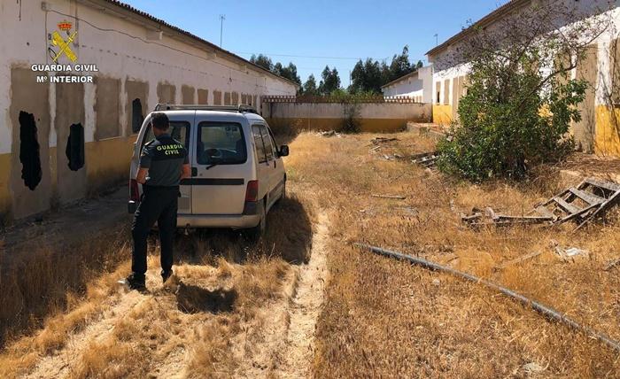 Intervenidos 250 kg de hachís en el interior de un vehículo en Trigueros