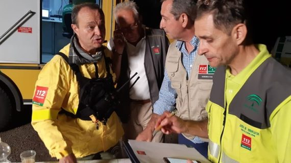 Desactivado el nivel 1 del Plan de Emergencias por el incendio forestal en Almonaster La Real