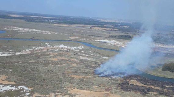 Controlado el incendio en las Marismas del Burro tras su reactivación