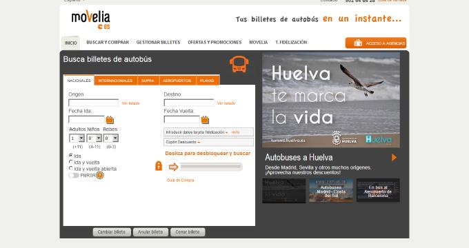 Huelva pone en marcha una campaña de promoción turística de la ciudad en la principal plataforma nacional de transportes por autobús