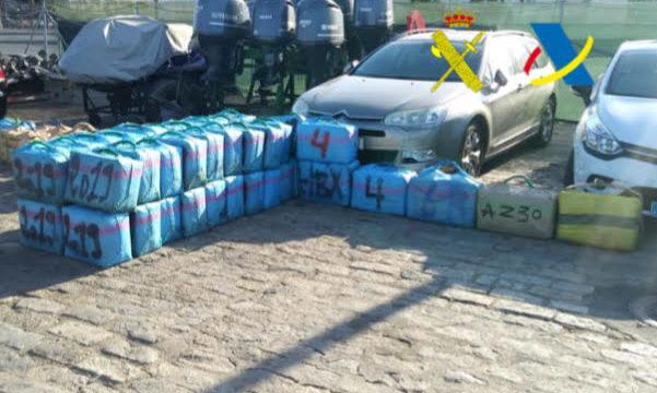 Interceptada una embarcación con 1.800 kilos de hachís frente a las costas de Huelva