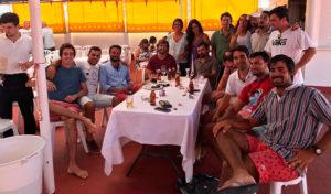 Además de la disputa de la Regata Presidente y el Trofeo Ricardo Terrades hubo una concentración de Viejas Glorias del RCMTPU.