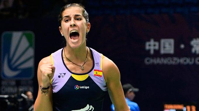 Carolina Marín sigue de manera solvente en el Open de China. / Foto: Bádminton Photo.