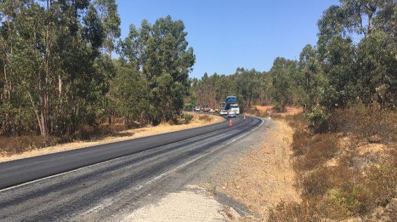 Rehabilitación del firme de la carretera que une Alosno con la Puebla de Guzmán
