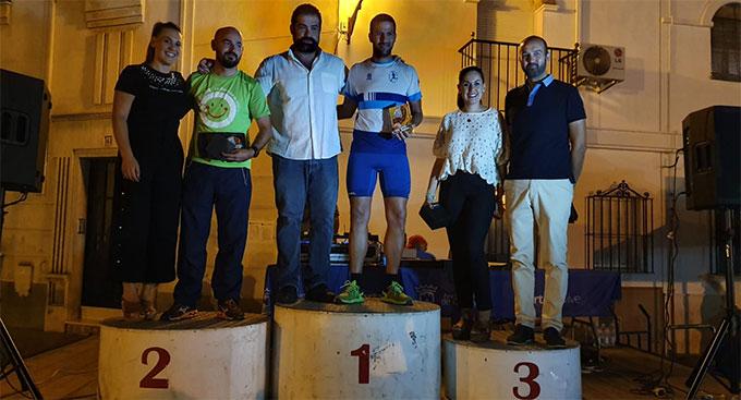 Uno de los podios de la prueba atlética celebrada en Cartaya.