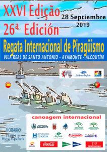Cartel anunciador de la XXVI Regata Internacional de Piragüismo 'Río Guadiana' del próximo 28 de septiembre.
