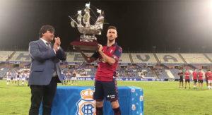 El Osasuna, gracias a un gol de Adrián, se llevó el LIV Trofeo Colombino.