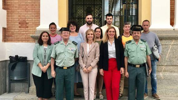 Visita institucional a los cuarteles de la Guardia Civil del Andévalo para conocer su estado