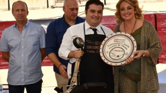 El lucenero Vicente García gana el III Concurso Nacional de Cortadores de Jamón de Osuna