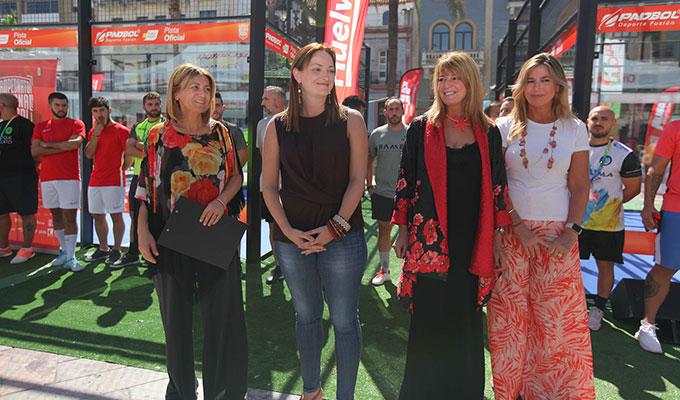 Un momento de la inauguración del Campeonato Nacional de Pádbol, que tiene a Huelva como escenario.