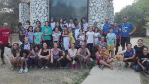 Participantes en la primera sesión de la escuela puesta en marcha por el Club de Orientación de Huelva.