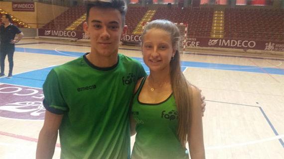Antonio Jesús Ramos y Valeria Atencia, campeón y subcampeona de España de pádel con la selección de Andalucía