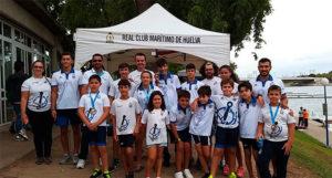 Representantes del RCMH en la Copa de Andalucía de Ríos y Travesías de Barcos Combinados.