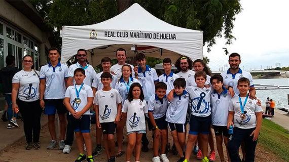 El Real Club Marítimo de Huelva logra siete medallas en la Copa de Andalucía de Ríos y Travesías de Barcos Combinados
