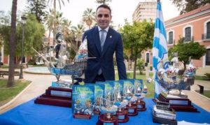 Antonio Núñez fue el pregonero del LIV Trofeo Colombino. / Foto: @AytoHuelva.
