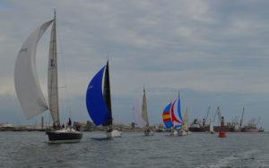 Al final fueron 28 las embarcaciones que tomaron parte en la Regata de Cruceros '50 Aniversario del Real Club Marítimo de Huelva'.